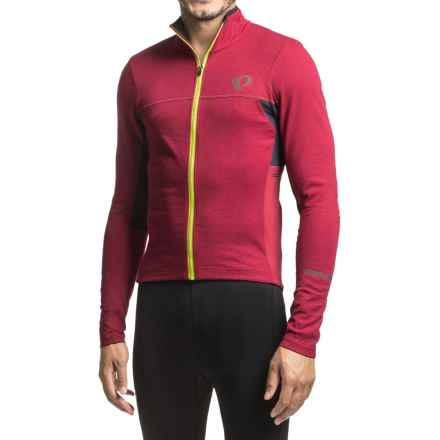 Pearl Izumi P.R.O Escape Thermal Cycling Jersey - Full Zip, Long Sleeve (For Men) in Tibetan Red - Closeouts