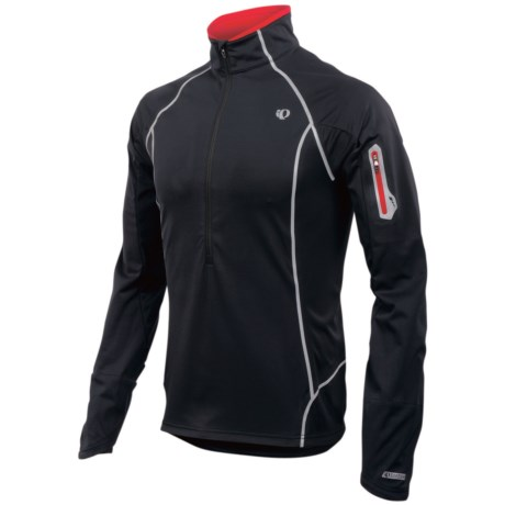 Pearl Izumi P.R.O. Fly Evo Pullover - Soft Shell, Zip Neck, Long Sleeve (For Men) in Black