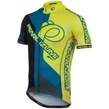 Pearl Izumi P.R.O. In-R-Cool® Cycling Jersey - Limited Edition, Full Zip, Short Sleeve (For Men) in Team Pi Black/Screaming Yellow - Closeouts