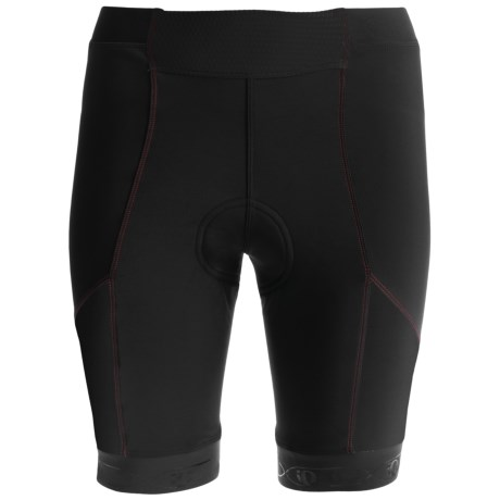 Pearl Izumi PRO In-R-Cool Cycling Shorts - UPF 50+ (For Women) in Black/True Red Stitch 2