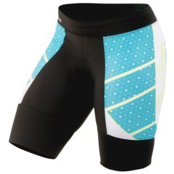 Pearl Izumi P.R.O. In-R-Cool Leader Cycling Shorts (For Women) in Black/Scuba Blue