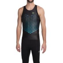Pearl Izumi P.R.O. In-R-Cool® Triathlon Singlet - UPF 50 (For Men) in Black/Green Flash - Closeouts