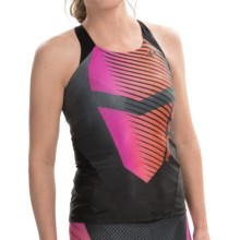 Pearl Izumi P.R.O. In-R-Cool® Triathlon Singlet - UPF 50 (For Women) in Black/Hot Pink - Closeouts