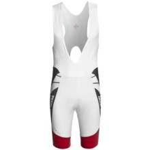 Pearl Izumi Pro Leader Bib Shorts (For Men) in White/True Red - Closeouts