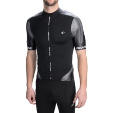 Pearl Izumi P.R.O Leader Cycling Jersey - Full Zip, Short Sleeve (For Men) in Black/Shadow Grey - Closeouts