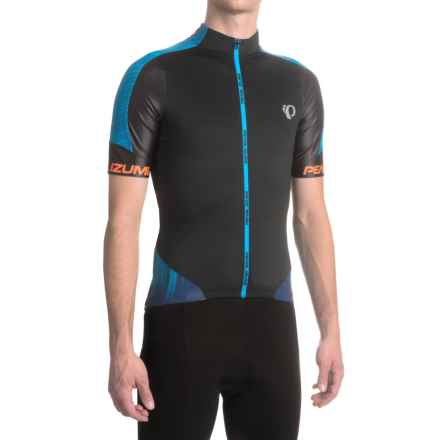 Pearl Izumi P.R.O. Leader Cycling Jersey - Full Zip, Short Sleeve (For Men) in Pro Tm Bel Air Blue - Closeouts