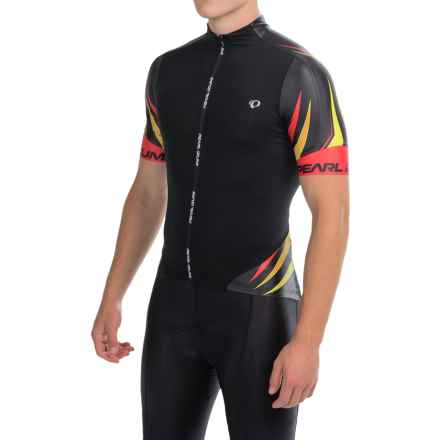 Pearl Izumi P.R.O Leader Cycling Jersey - Full Zip, Short Sleeve (For Men) in Pro Tm Habanero - Closeouts