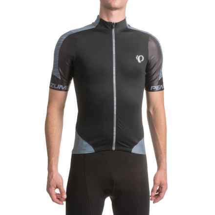 Pearl Izumi P.R.O Leader Cycling Jersey - Full Zip, Short Sleeve (For Men) in Pro Tm Smoked Pearl - Closeouts