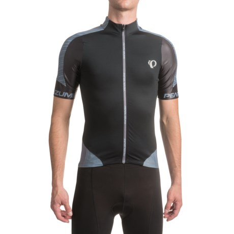 Pearl Izumi P.R.O. Leader Cycling Jersey - Full Zip, Short Sleeve (For Men) in Pro Tm Smoked Pearl