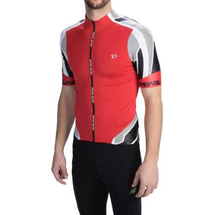 Pearl Izumi P.R.O Leader Cycling Jersey - Full Zip, Short Sleeve (For Men) in True Red/Shadow - Closeouts