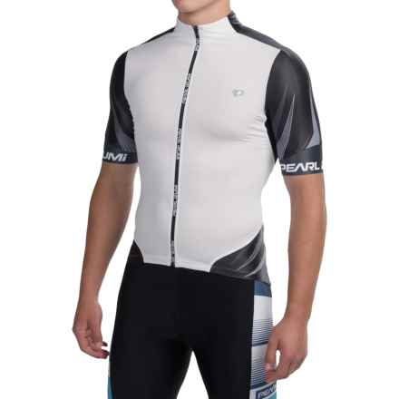 Pearl Izumi P.R.O Leader Cycling Jersey - Full Zip, Short Sleeve (For Men) in White/Black - Closeouts