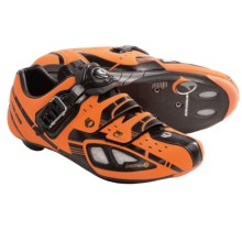 Pearl Izumi P.R.O. Leader Road Cycling Shoes (For Men) in Safety Orange/Black - Closeouts