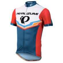 Pearl Izumi P.R.O. LTD Speed Short Sleeve Cycling Jersey - UPF 40, Full Zip, Short Sleeve (For Men) in Pro Team Mykonos Blue - Closeouts