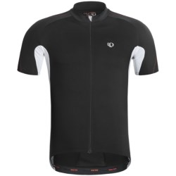 Pearl Izumi P.R.O. Octane Full-Zip Cycling Jersey - UPF 40+, Short Sleeve (For Men) in Black/White