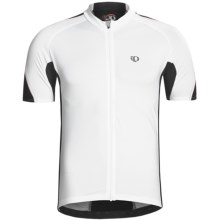 Pearl Izumi P.R.O. Octane Full-Zip Cycling Jersey - UPF 40+, Short Sleeve (For Men) in White/Black - Closeouts