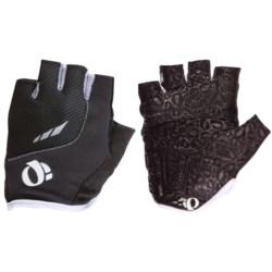 Pearl Izumi P.R.O. Pittards® Gel Cycling Gloves - Fingerless (For Women) in White/Scuba Blue