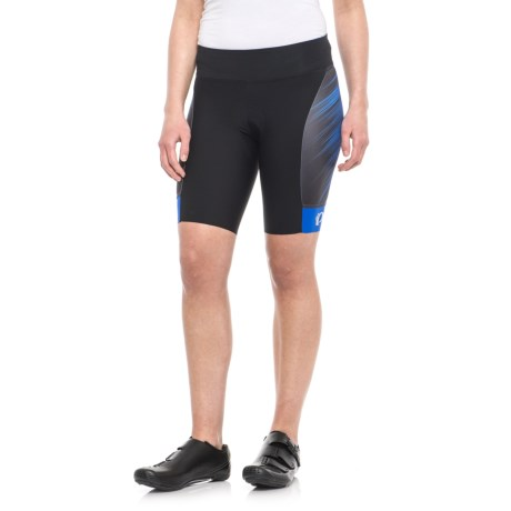 Pearl Izumi P.R.O. Pursuit Cycling Shorts - UPF 50+ (For Women) in Dazzling Blue Streamline