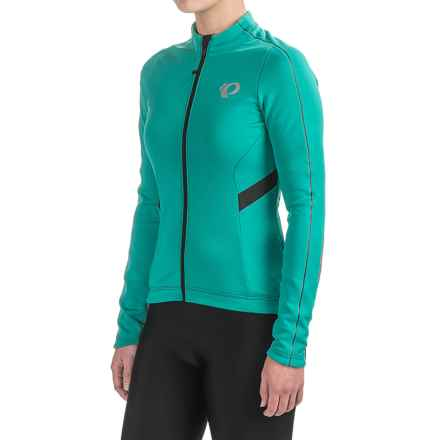 Pearl Izumi P.R.O. Pursuit Thermal Cycling Jersey - Long Sleeve (For Women) in Dynasty Green Stripe - Closeouts