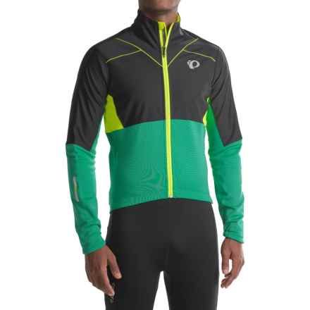 Pearl Izumi P.R.O. Pursuit Thermal Soft Shell Jacket - Fleece Lined (For Men) in Black/Pepper Green - Closeouts