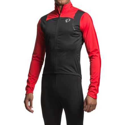 Pearl Izumi P.R.O. Pursuit Wind Cycling Jacket (For Men) in Black/True Red - Closeouts