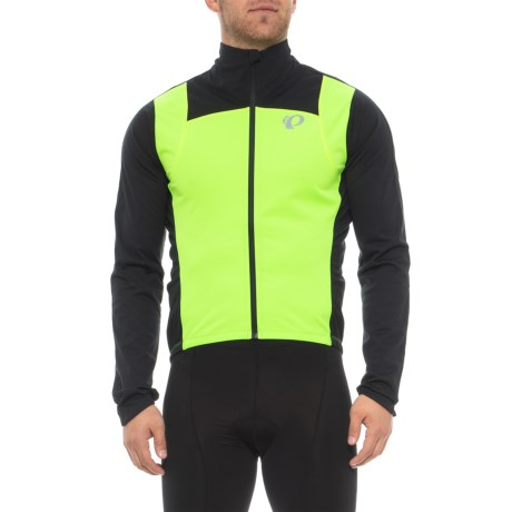 Pearl Izumi P.R.O. Pursuit Wind Cycling Jacket (For Men) in Screaming Green/Black