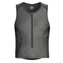 Pearl Izumi P.R.O. Singlet Vest - UPF 50, Full Zip (For Men) in Shadow Grey/Black - Closeouts