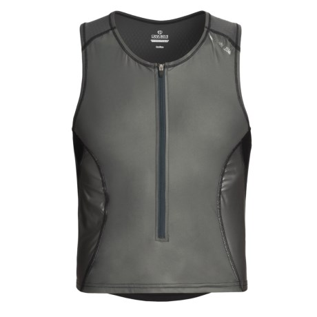 Pearl Izumi P.R.O. Singlet Vest - UPF 50, Full Zip (For Men) in Shadow Grey/Black