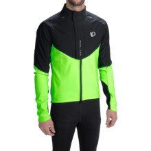 Pearl Izumi P.R.O. Soft Shell Cycling Jacket (For Men) in Black/Screaming Green - Closeouts