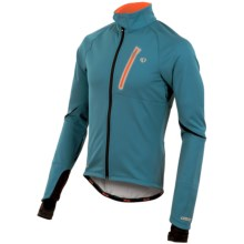 Pearl Izumi P.R.O. Soft Shell Cycling Jacket (For Men) in Petrol Blue/Cherry Tomato - Closeouts