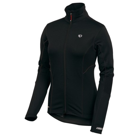 Pearl Izumi P.R.O. Thermal Cycling Jersey - Full Zip, Long Sleeve (For Women) in Black