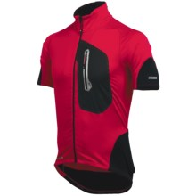 Pearl Izumi P.R.O. Thermal Cycling Jersey - Full Zip, Short Sleeve (For Men) in True Red/Black - Closeouts