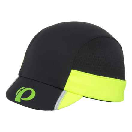 Pearl Izumi P.R.O. Transfer Cycling Cap (For Men and Women) in Black/Screaming Yellow - Closeouts
