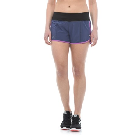 Pearl Izumi Pursuit Shorts - Built-In Briefs (For Women) in Deep Indigo/Iris Orchid