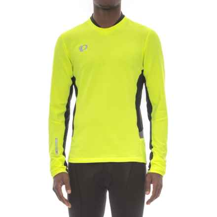 Pearl Izumi Pursuit Thermal Shirt - Long Sleeve (For Men) in Screaming Yellow/Black - Closeouts