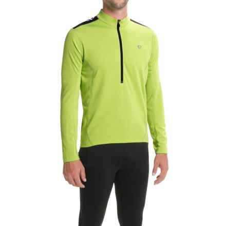Pearl Izumi Quest Cycling Jersey - Long Sleeve (For Men) in Citron - Closeouts