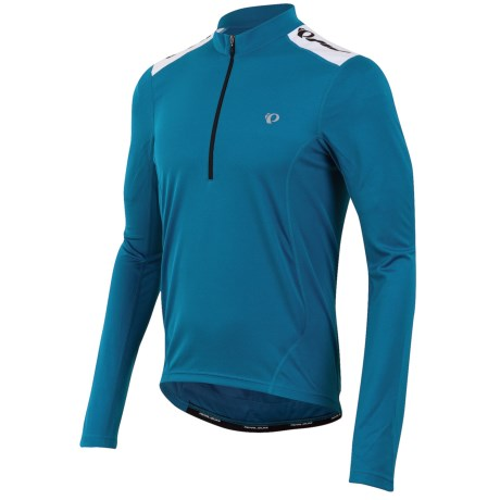 Pearl Izumi Quest Cycling Jersey - Long Sleeve (For Men) in Mykonos Blue