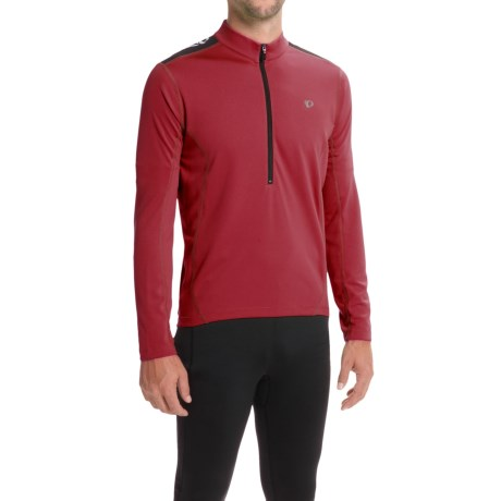 Pearl Izumi Quest Cycling Jersey - Long Sleeve (For Men) in Tibetan Red