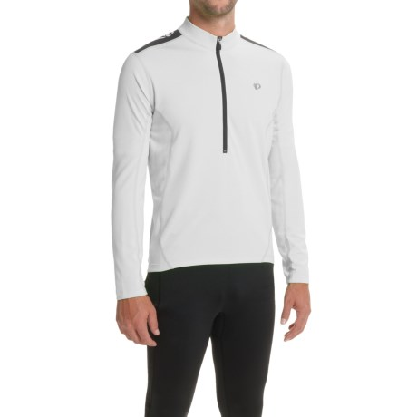 Pearl Izumi Quest Cycling Jersey - Long Sleeve (For Men) in White/Black