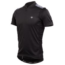 Pearl Izumi Quest Cycling Jersey - Neck Zip, Short Sleeve (For Men) in Black/Black - Closeouts