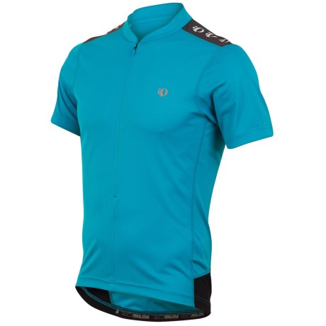 Pearl Izumi Quest Cycling Jersey - Neck Zip, Short Sleeve (For Men) in Electric Blue
