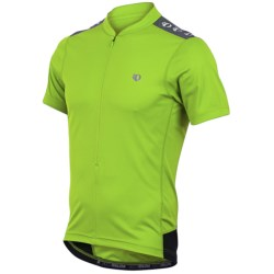 Pearl Izumi Quest Cycling Jersey - Neck Zip, Short Sleeve (For Men) in Green Flash/Black