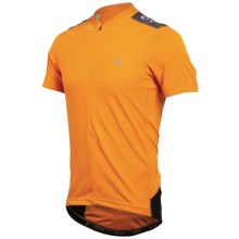 Pearl Izumi Quest Cycling Jersey - Neck Zip, Short Sleeve (For Men) in Safety Orange/Black - Closeouts
