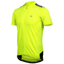 Pearl Izumi Quest Cycling Jersey - Neck Zip, Short Sleeve (For Men) in Screaming Yellow/Black - Closeouts