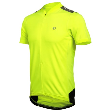 Pearl Izumi Quest Cycling Jersey - Neck Zip, Short Sleeve (For Men) in Screaming Yellow/Black