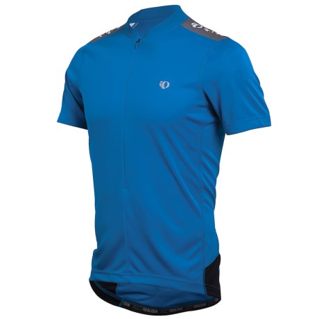 Pearl Izumi Quest Cycling Jersey - Neck Zip, Short Sleeve (For Men) in True Blue/Black