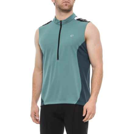 Pearl Izumi Quest Cycling Jersey - Sleeveless (For Men) in Arctic/Midnight Navy - Closeouts