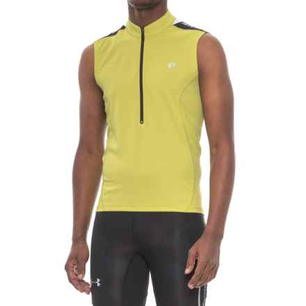 Pearl Izumi Quest Cycling Jersey - Sleeveless (For Men) in Citron - Closeouts