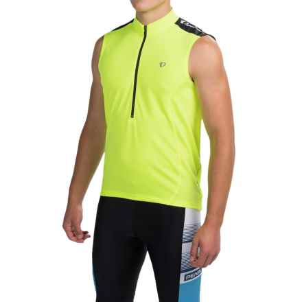 Pearl Izumi Quest Cycling Jersey - Sleeveless (For Men) in Screaming Yellow - Closeouts