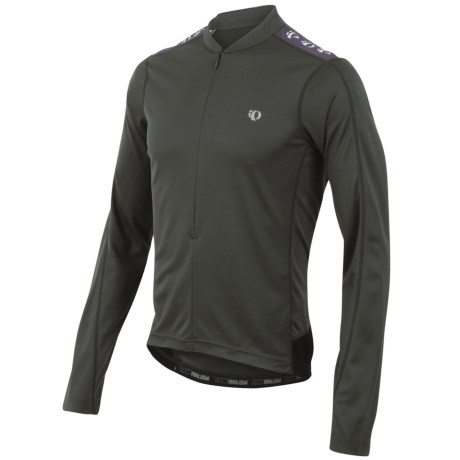 Pearl Izumi Quest Cycling Jersey - Zip Neck, Long Sleeve (For Men) in 136 Shadow Grey