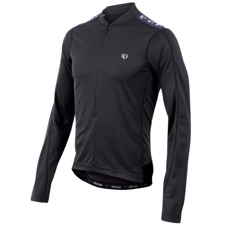 Pearl Izumi Quest Cycling Jersey - Zip Neck, Long Sleeve (For Men) in Black